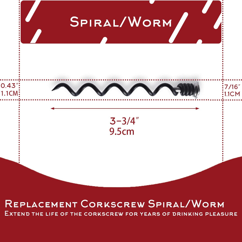 2 pezzi Best computer cavatappi a spirale//Worm for Rabbit e Bestutensils apri del vino Acciaio al carbonio