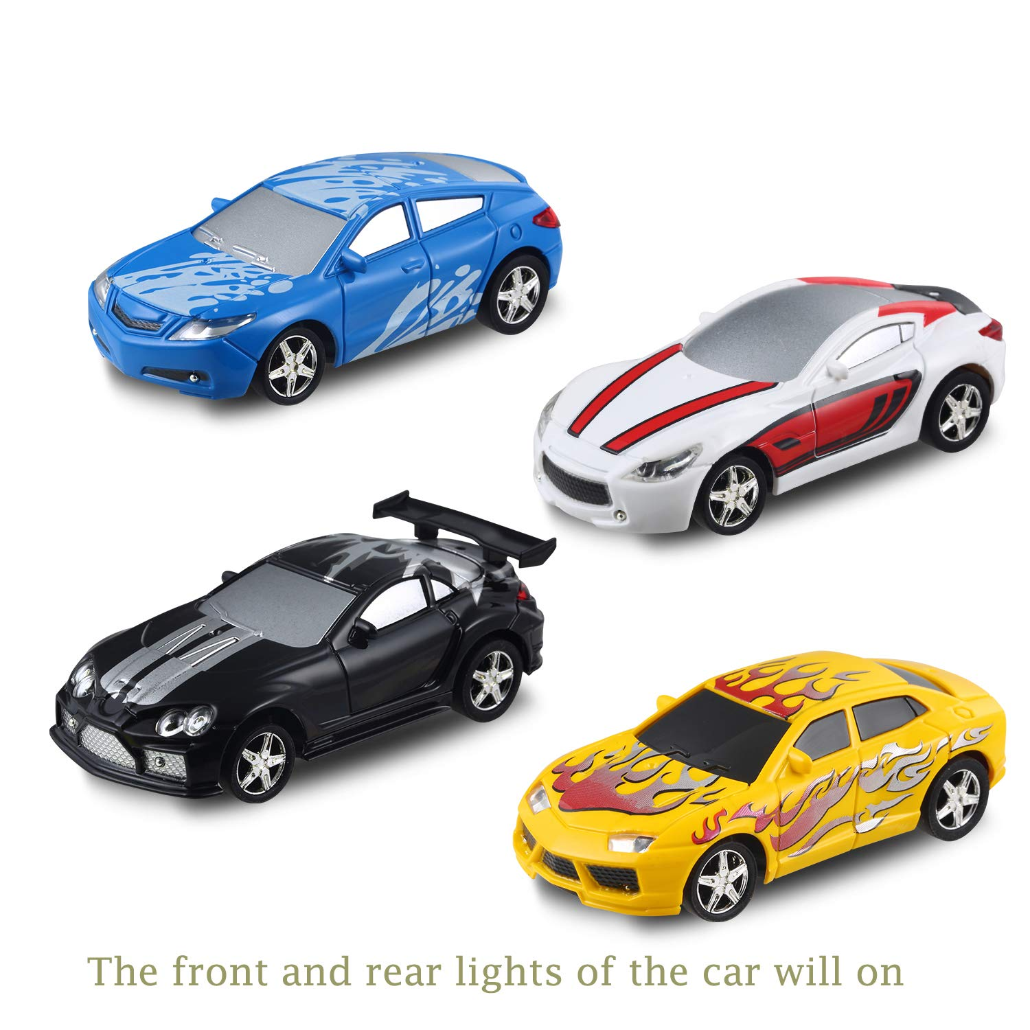 haomsj RC Cars for Kids Rechargable Pocket Racers 2.4GHz RC Remote Control Car Toys for Boys Girls in Ball with LED Light Black, 1 racing-1