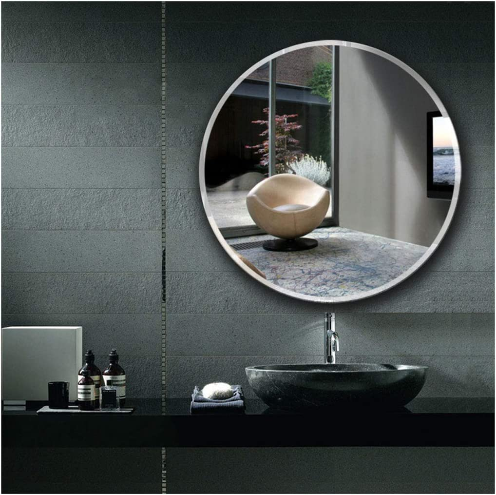 Large Simple Rectangular Streamlined 1 Inch Beveled Wall Mirror 30cm Premium Silver Backed Rectangle Mirrored Glass Panel Vanity,30