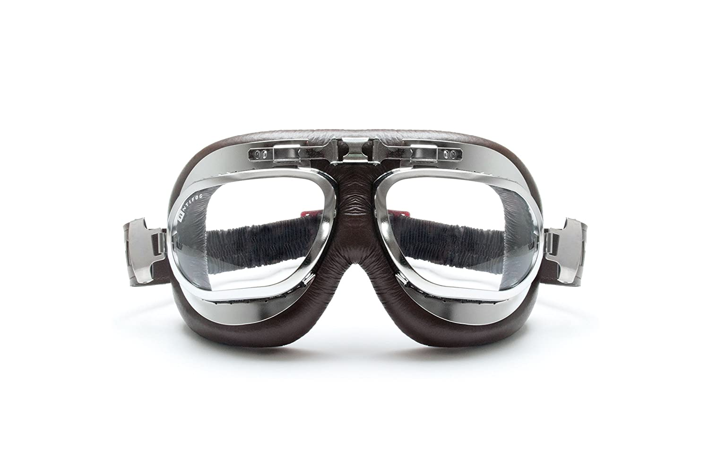 Montura de Acero Lentes Anti-Vaho Resistente a los Impactos BERTONI Gafas Moto Mascara Vintage Aviadoras AF191 by Italy