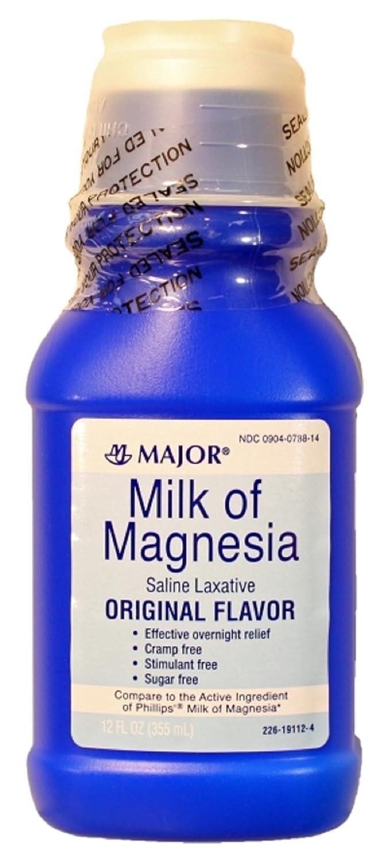 Amazon.com: MAJOR MILK OF MAGNESIA ORIG MAGNESIUM HYDROXIDE-400 MG/5ML White 12OZ UPC 309040788146: Health & Personal Care