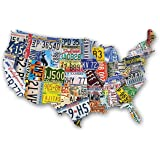 USA Shaped Jigsaw Puzzle - License Plates