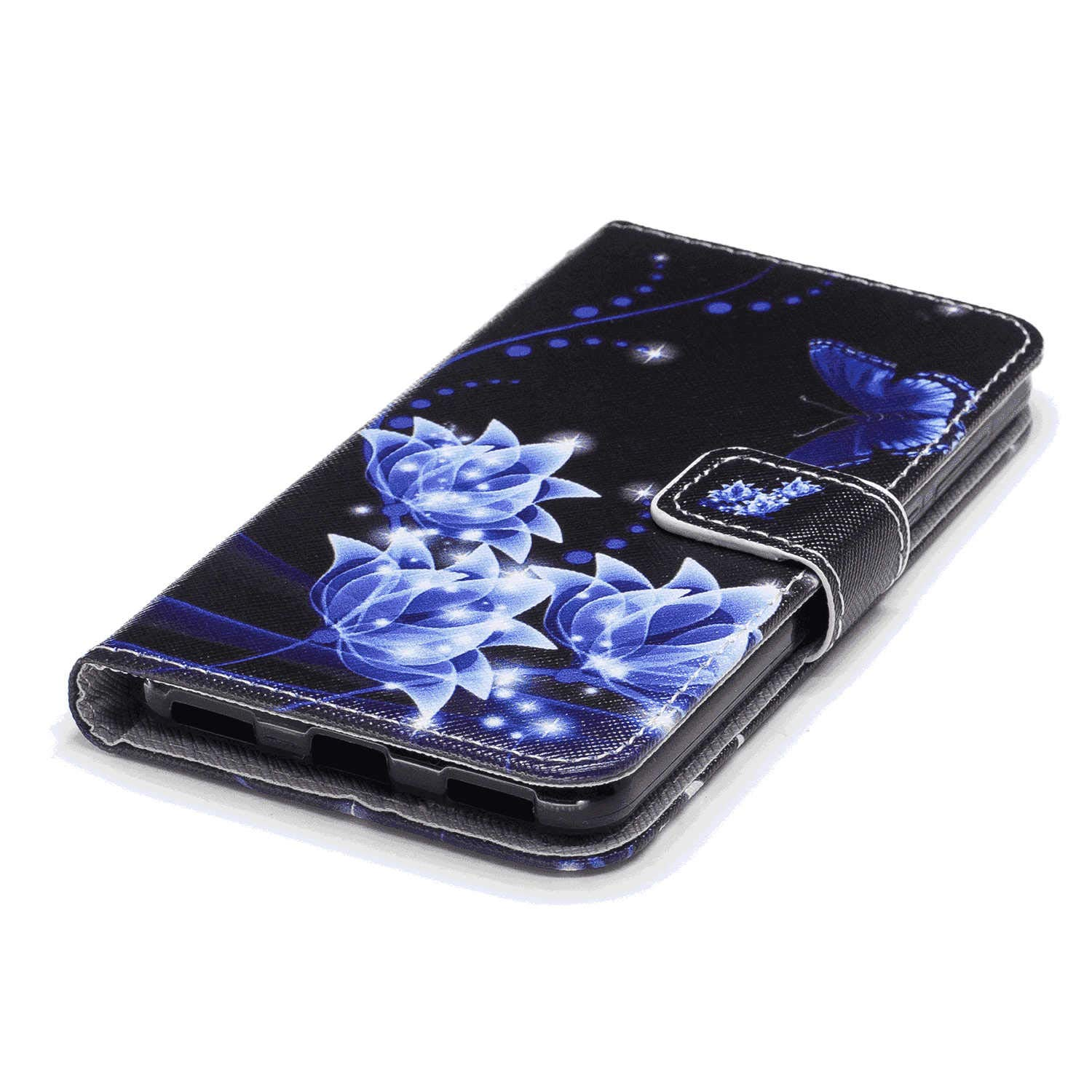 Cover for Samsung Galaxy S8 Leather Kickstand Cell Phone Cover Luxury Business Card Holders with Free Waterproof-Bag White10 Samsung Galaxy S8 Flip Case