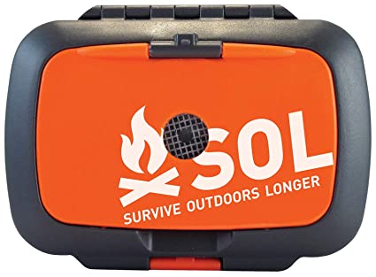 blanket whistle /& more! Adventure Medical SOL SCOUT Survival Kit fire lite