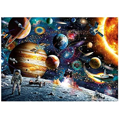 Jigsaw Puzzles 1000PCs, Planets in Space Puzzle for Adults Kids - Educational Intellectual Decompressing Fun Family Game: Toys & Games