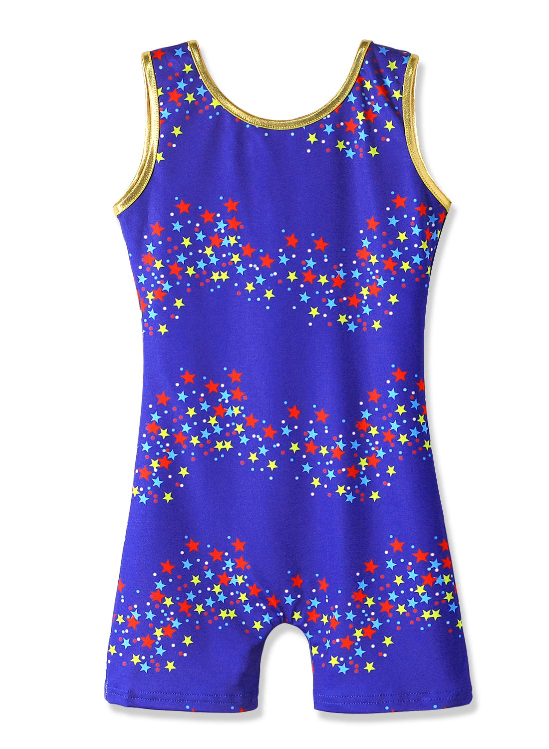 Gymnastics Biketards for Girls 3t 4t Toddler Girls Leotards with Shorts Stars Print by HOZIY