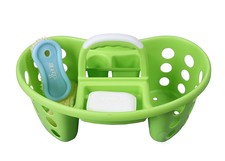 ポータブルプラスチックツールとクリーニングキャディ、グリーン B075F8H4XJ グリーン