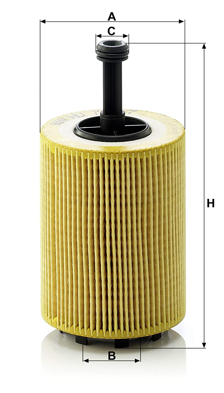 Mann-Filter HU 719//7 X Metal-Free Oil Filter Pack of 3