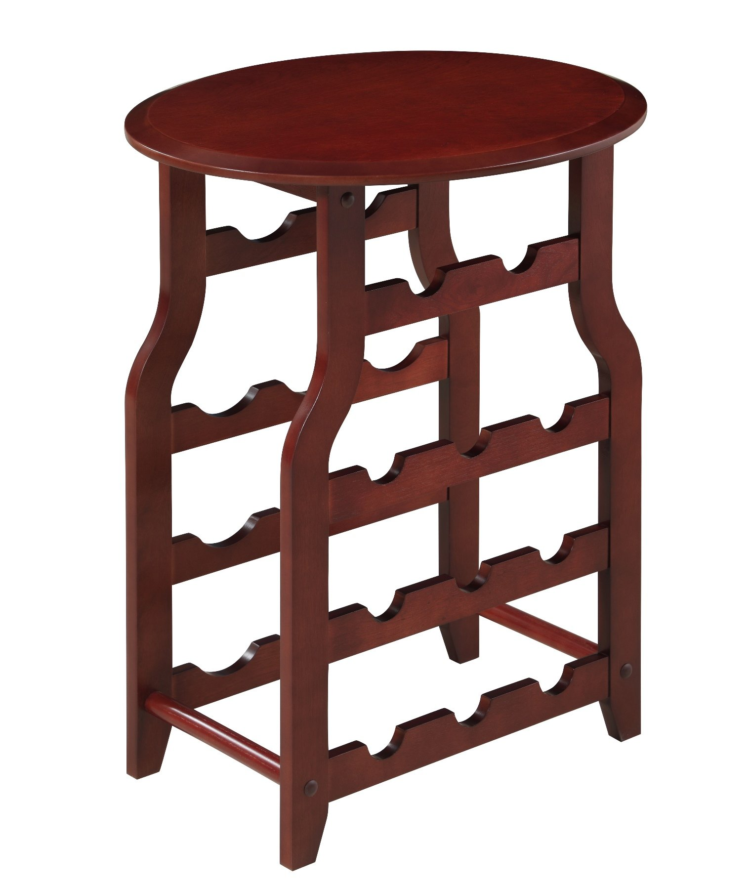 Proman Products Wine Table with Rack by Proman Products