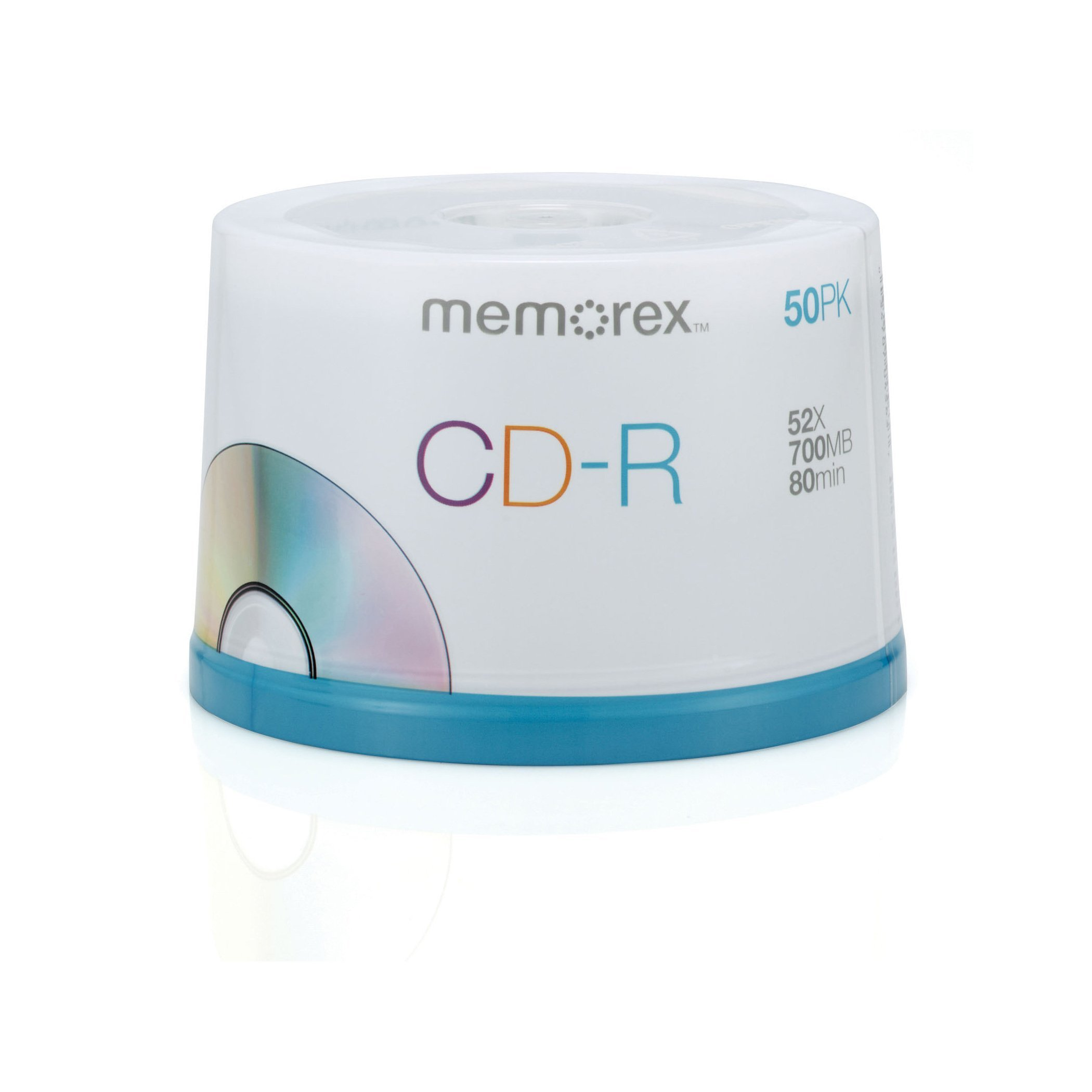 Memorex 700MB/80-Minute 52x Data CD-R Media 50-Pack Spindle by Memorex