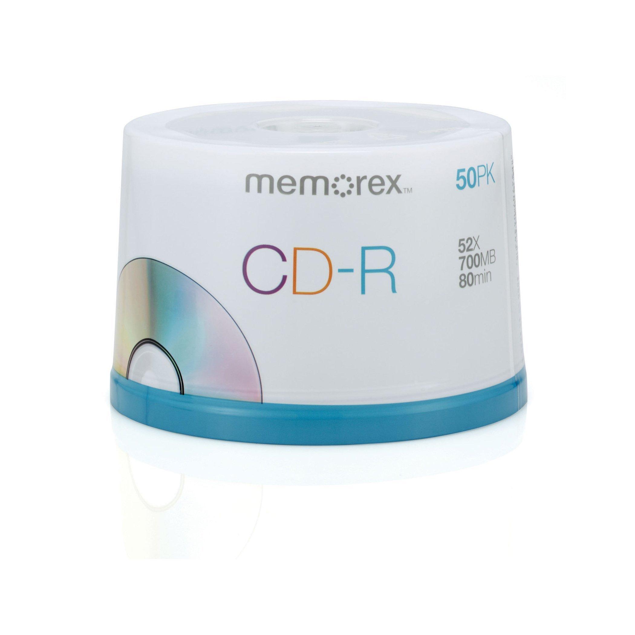 Memorex 700MB/80-Minute 52x Data CD-R Media 50-Pack Spindle