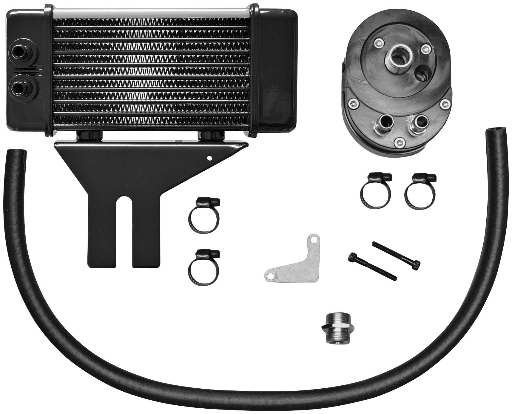 Jagg Oil Coolers Horizontal 10 Row Oil Cooler - Low Mount - Chrome 750-2580