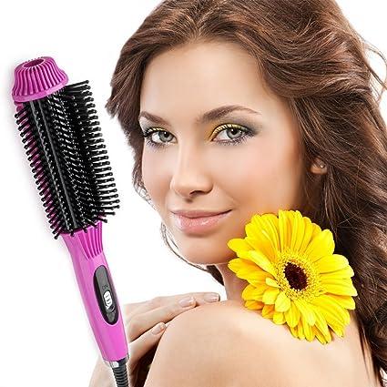 Plancha de pelo de cepillo, eléctrica multifunción Cepillo de pelo, cidbest® Ruedas estás