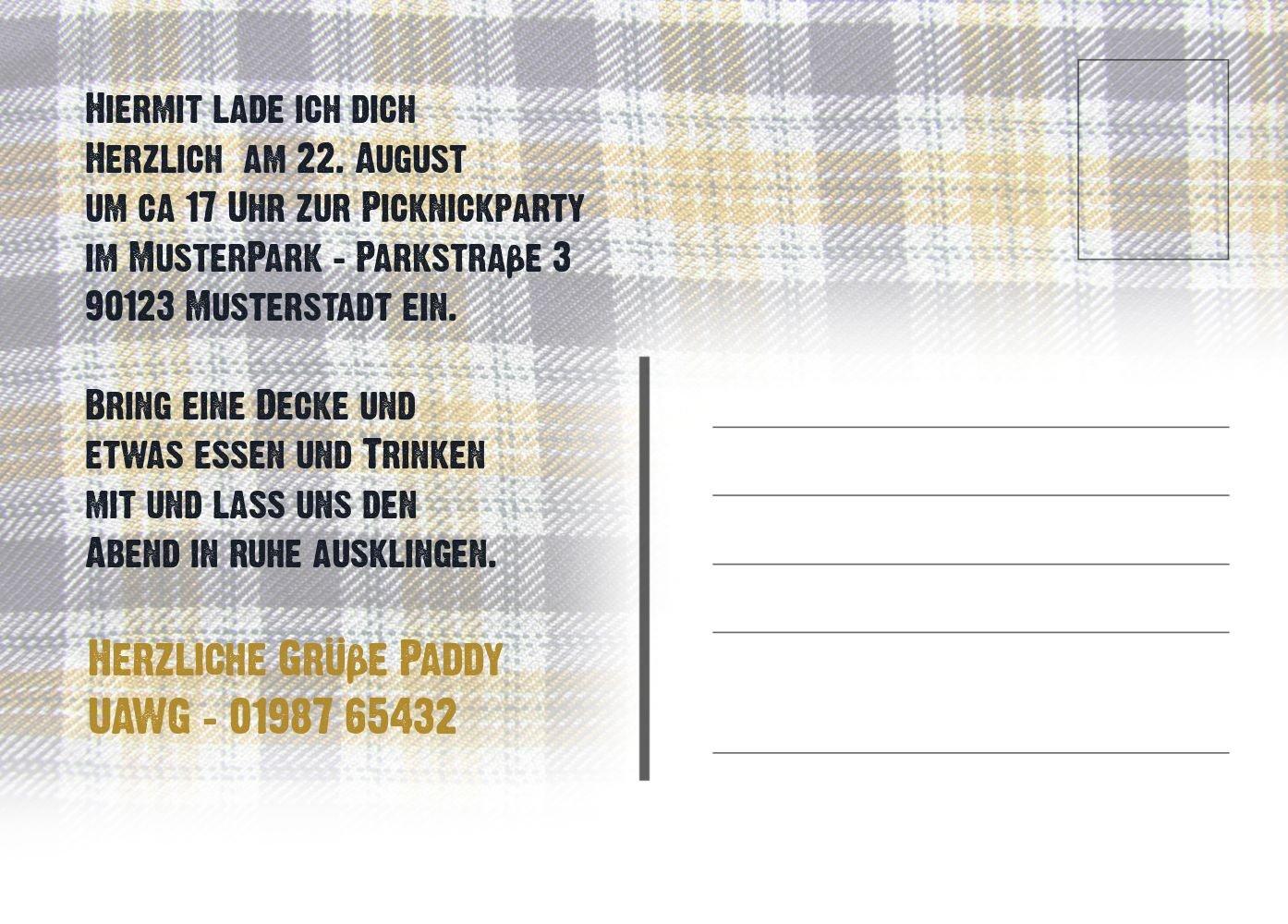 Einladung Sommerfest Picknickdecke, 60 Karten, HellBlau B073H4HR3H B073H4HR3H B073H4HR3H | Stilvoll und lustig  | Neues Design  | Outlet Online  2b1d2a