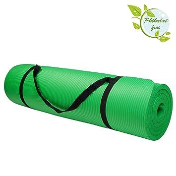BB Sport Esterilla colchoneta de yoga 200 cm x 80 cm x 1.5 cm para fitness deportiva pilates gimnasia ejercicio