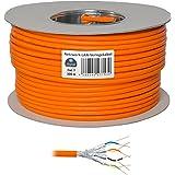 HB Digital Netzwerkkabel LAN Verlegekabel cabel 100m cat 7 Kupfer S/FTP PIMF LSZH Halogenfrei orange RoHS-compliant cat. 7 Cat7a AWG 23/1