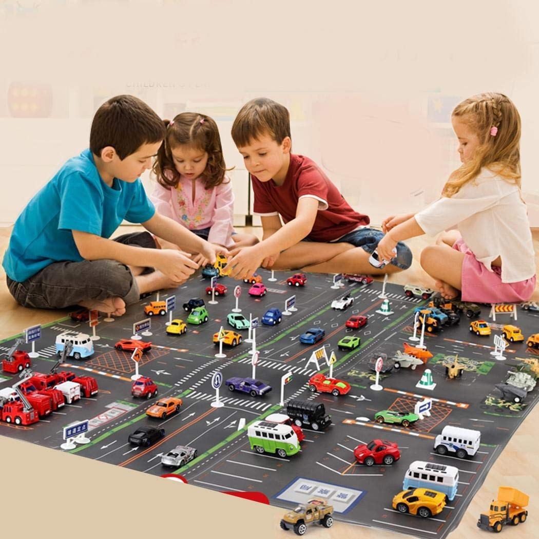 Children Parking Lot Road Traffic Play Mat Game Pad Educational Toy Crib Toys /& Attachments