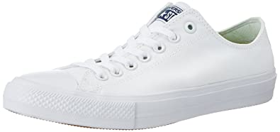 Converse Men's Chuck Taylor All Star II OX Casual Shoes White/white/navy  11.5