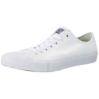 Converse Unisex Chuck Taylor II Ox White/White Basketball Shoe, White, Size 15.0 | Fashion Sneakers
