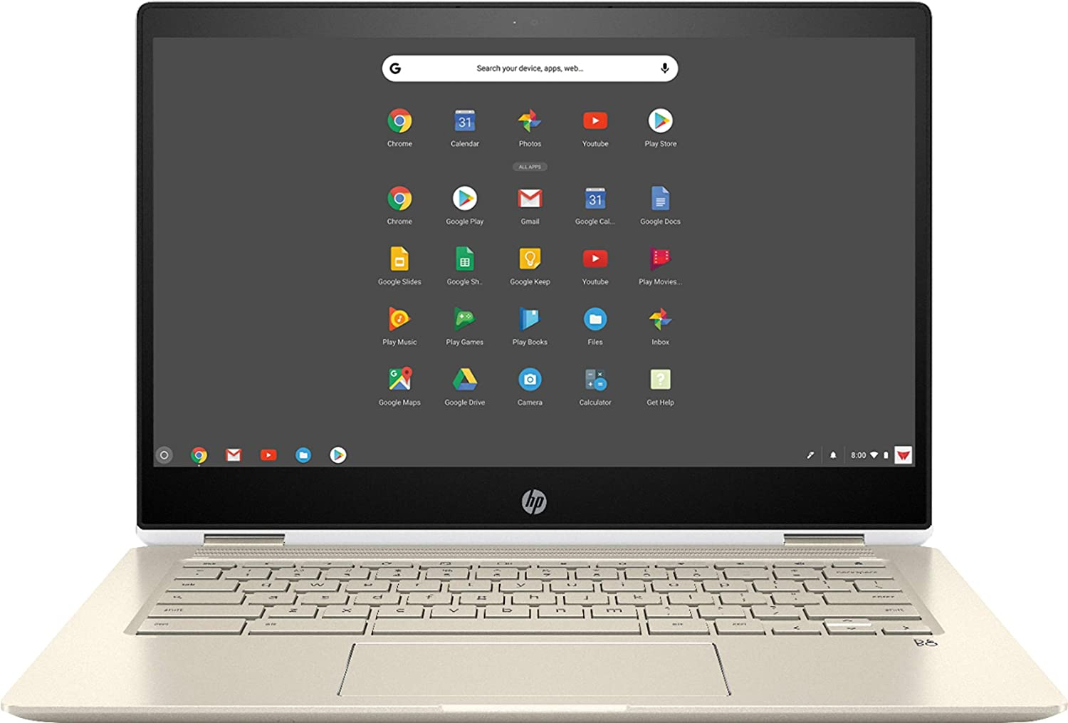 "HP Chromebook x360-14"" FHD Touch - i3-8130U - 8GB - 64GB eMMC - Silver White"