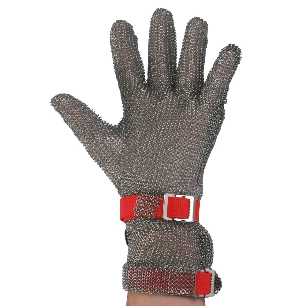 UltraSource 441050-S Stainless Steel Mesh Glove, Extended Length Cuff withTwo Replaceable Straps, Size Small, Each
