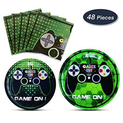 Amazon Com Wernnsai Game Party Supplies Kit Video Game Themed