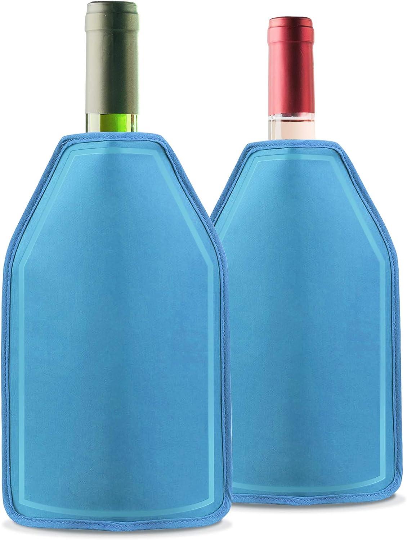 2 Pack Funda Enfriadora de Vino con Gel - Efecto de Enfriamiento ...