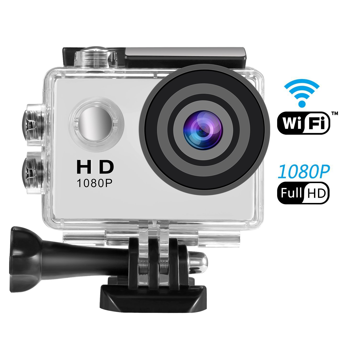 Action Camera, SENDOW Waterproof Underwater Camera for Helmet WiFi 1080P Full HD Action Sports Camera With 170°Wide-angle 30M (IP68) for Cycling Jumping Climbing Outing Xsports Parkour by Sendowtek