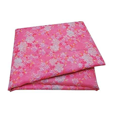 PEEGLI Indio Vendimia Floral Impreso Saree Rosado Poliéster De Coser Arte Usado Tela Mujer Étnico Sari