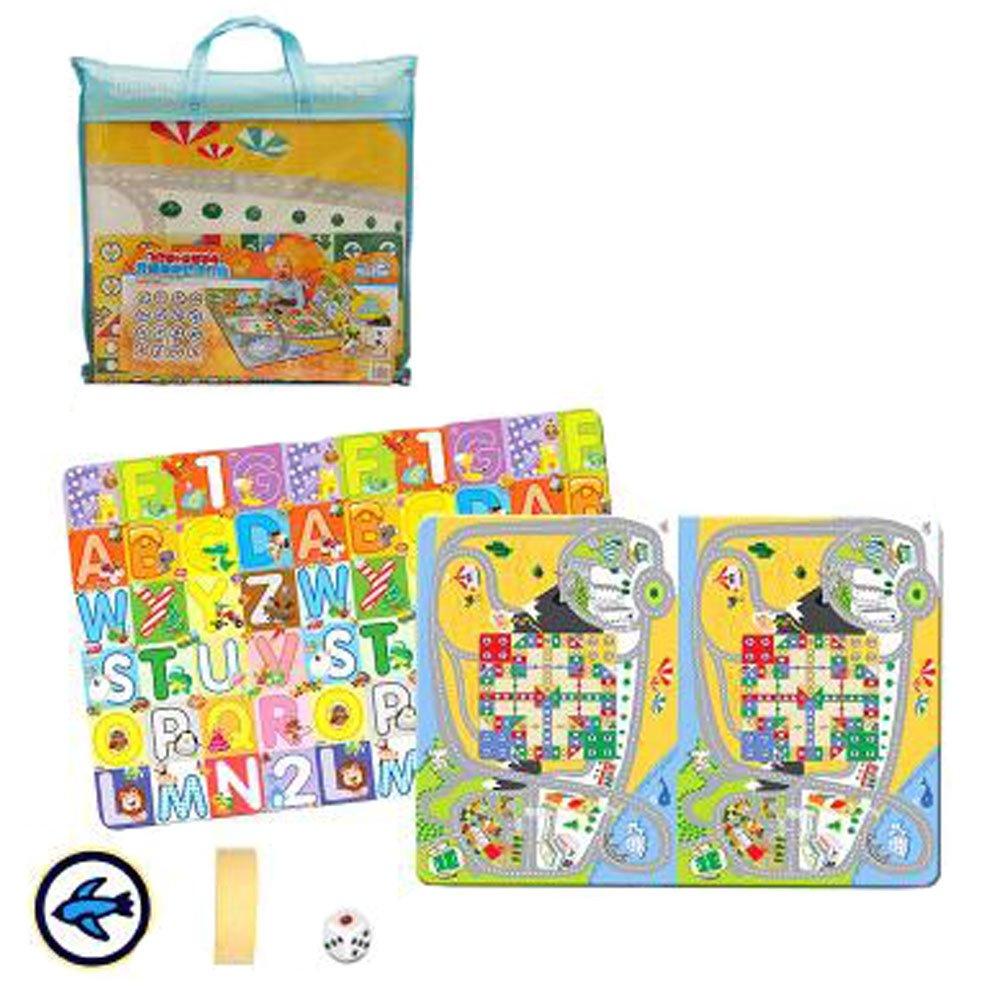 Kinder Schach Brettspiele Familienspiele Kinder Schach Spielzeug entwickeln Gehirn, Doppelseitige 185x150 Bagged Fly Checkers + Letter