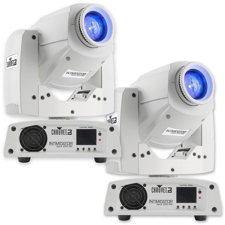 Chauvet DJ Intimidator Spot 255 IRC 60 W LED Moving Yoke Head DMX Light (2 Pack) by CHAUVET DJ