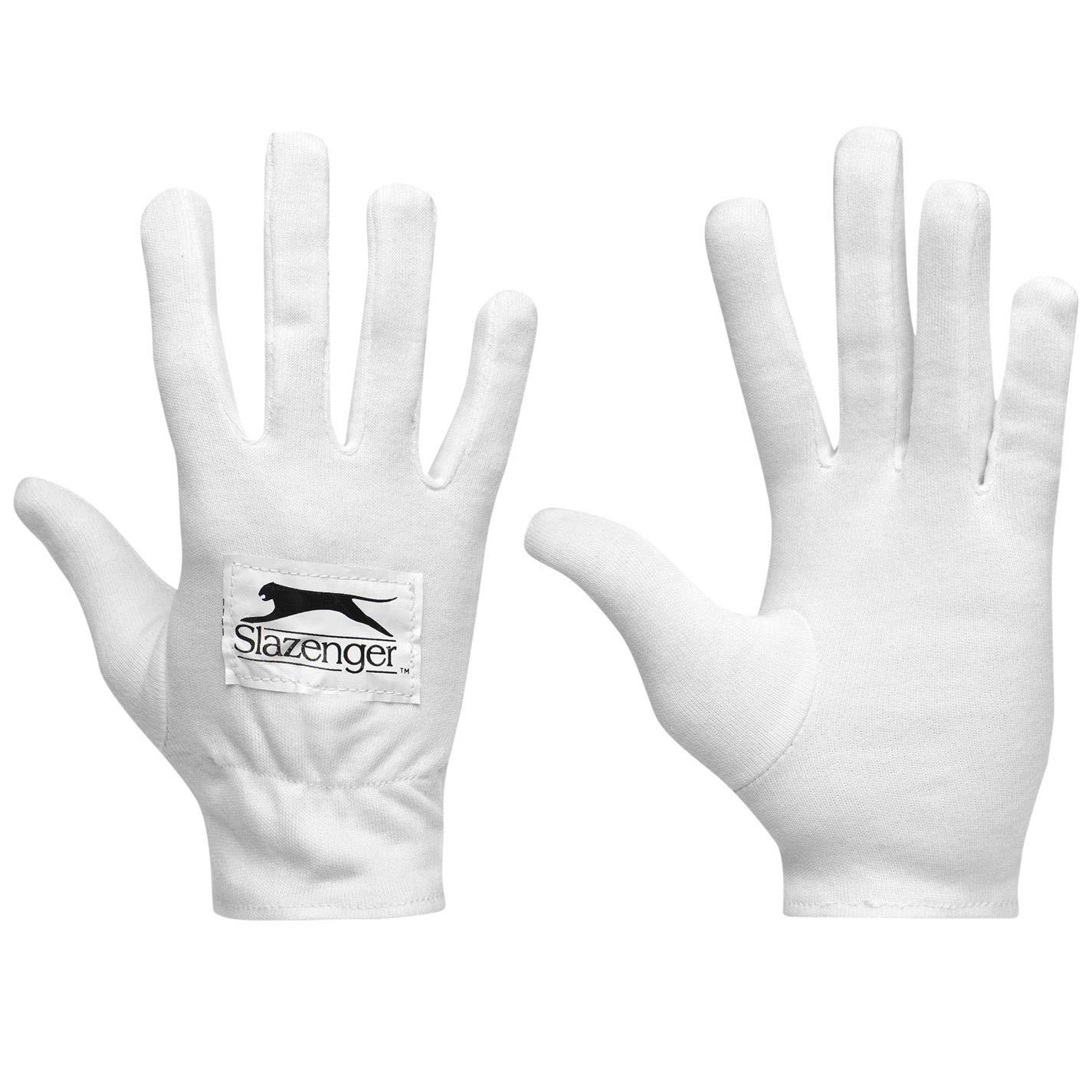 Slazenger Kids Pro Inner Gloves Junior Cricket Cotton White Junior