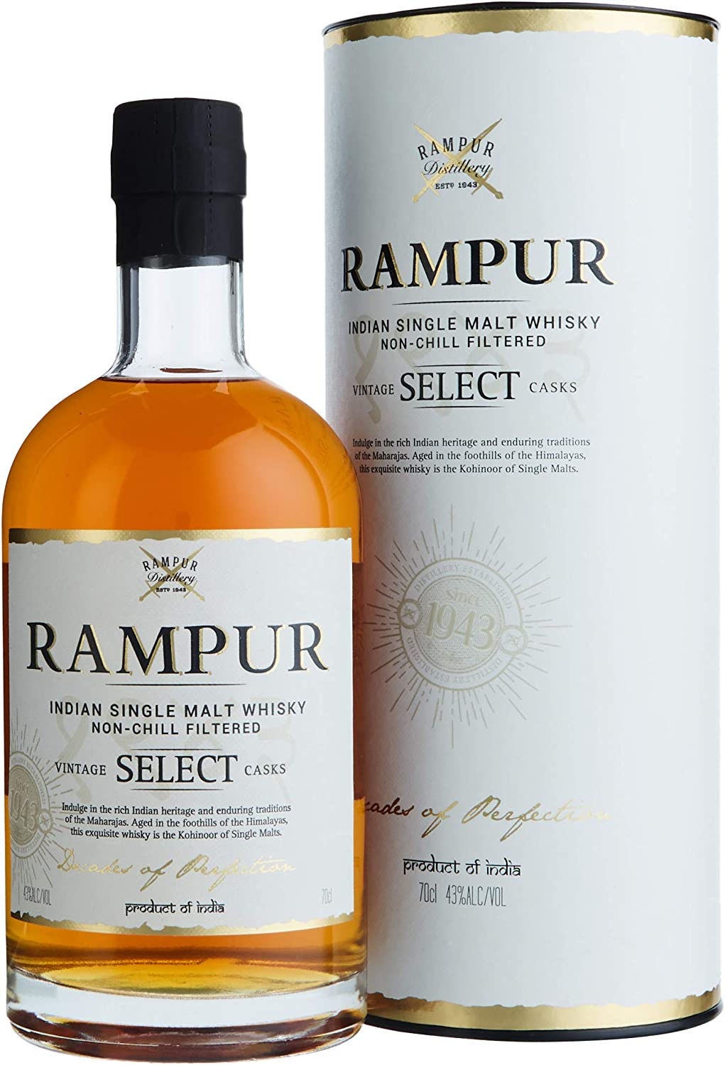Rampur Vintage Select Casks Indian Single Malt Indischer Whisky