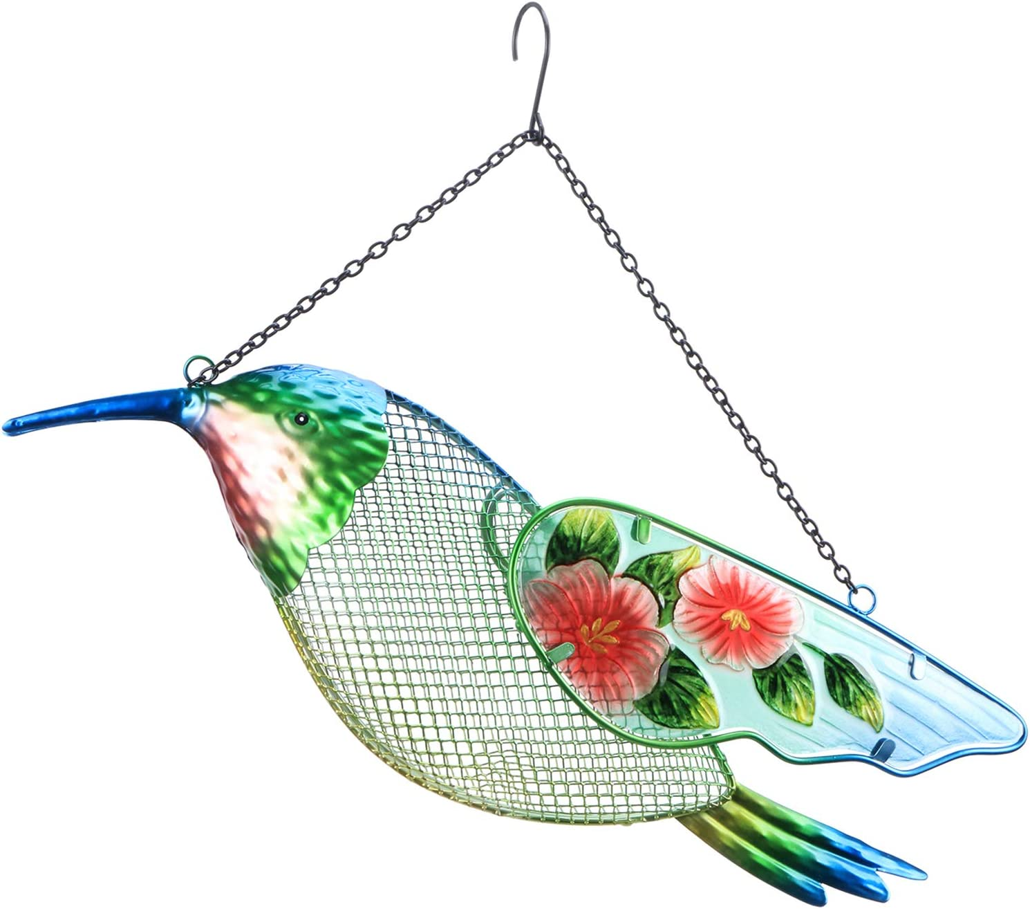 WONDER GARDEN Wild Bird Feeder,17 Inch Hummingbird Feeders Hanging Squirrel Proof Bird Feeders for Outdoors Patio Decor