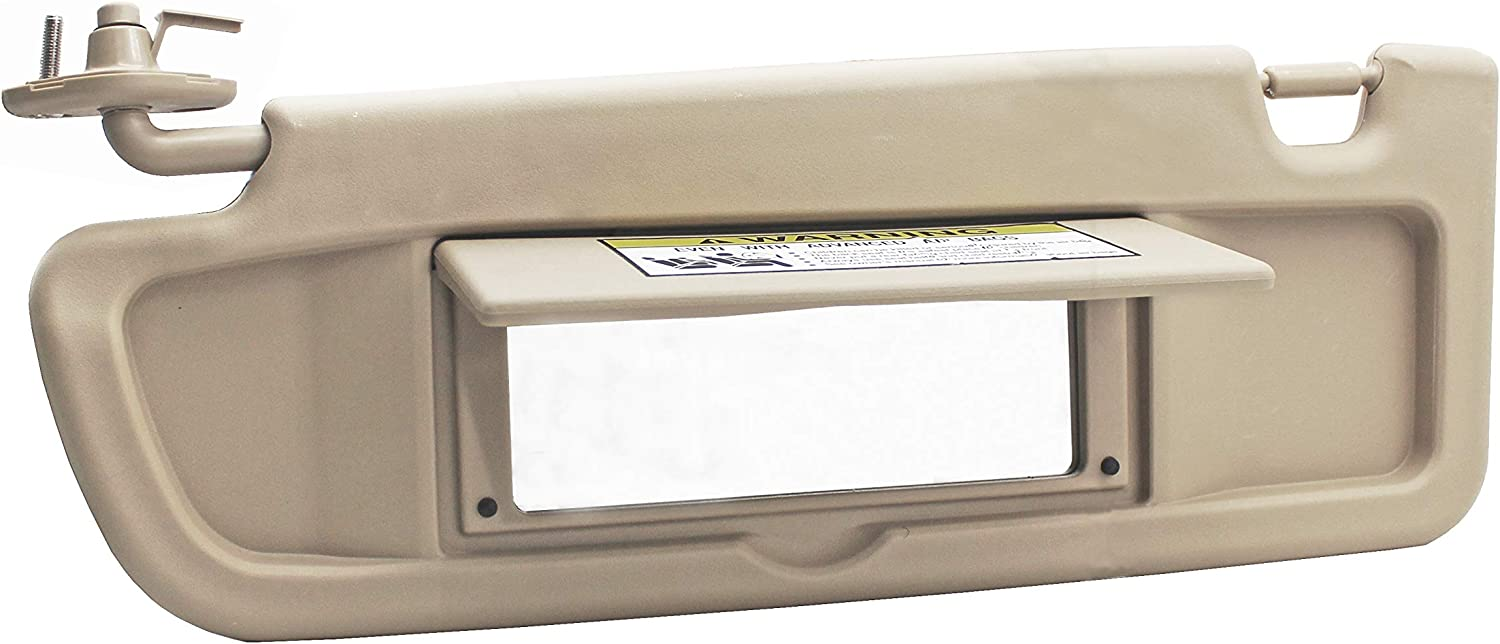 Warm Gray FlyingAMZiFJF 83280-SNA-A01ZA Car Front Left Driver Sun Visor Assembly fit for 2006-2011 Honda Civic Coupe//Sedan