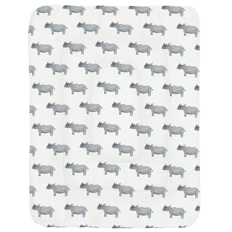 Carousel Designs Painted Rhino Crib Comforter