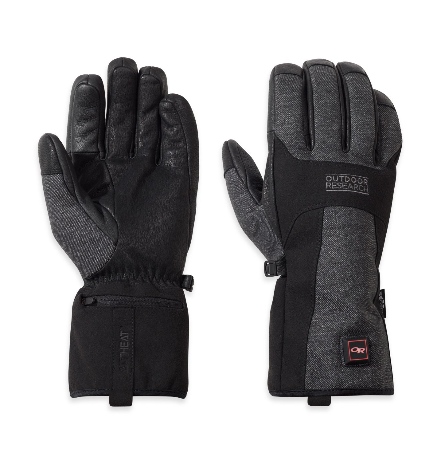 Outdoor Research Oberland Heated Gloves, Black/Charcoal, M
