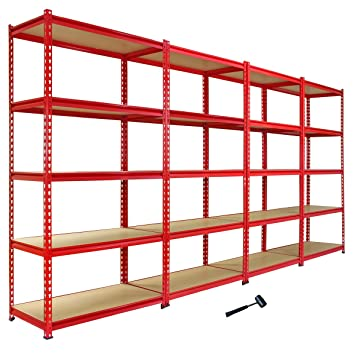 heavy duty storage shelves. 4 Monster Racking ZRax Shelving Garage Heavy Duty Storage Shelves 360kg Shelf Y