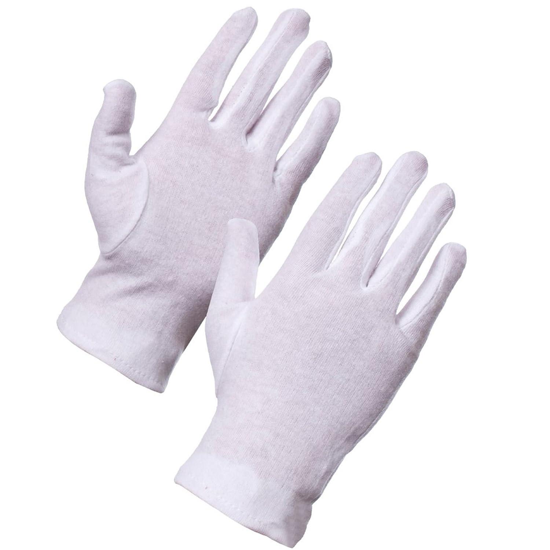 5x Pairs Of Small 100% Cotton Moisturising Gloves - Medical Eczema/Dry Skin Hand Care White Hinge