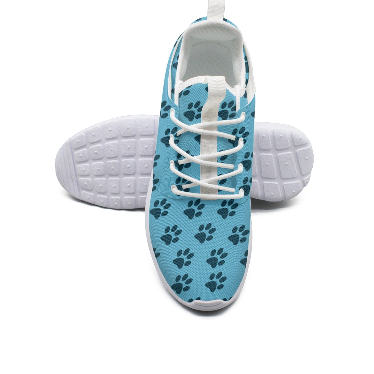 FUFGT Cat Paws And Dog Paws Womens Neutral Design Running Shoes Navy Active