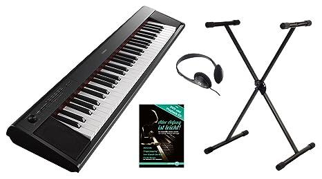 Yamaha piag Gero NP LI-12B Portable Piano Set (61 teclas sensibles al tacto, ...