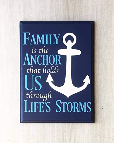 Amazoncom Family Is The Anchor That Holds Us Through Lifes Storms