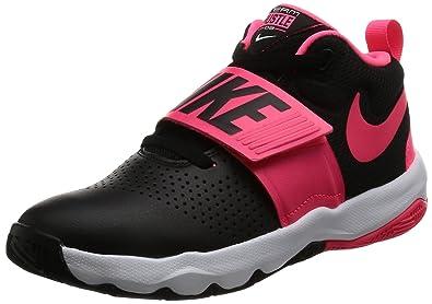 Nike Boy's Team Hustle D 8 (GS) Basketball Shoe Black/Racer Pink/