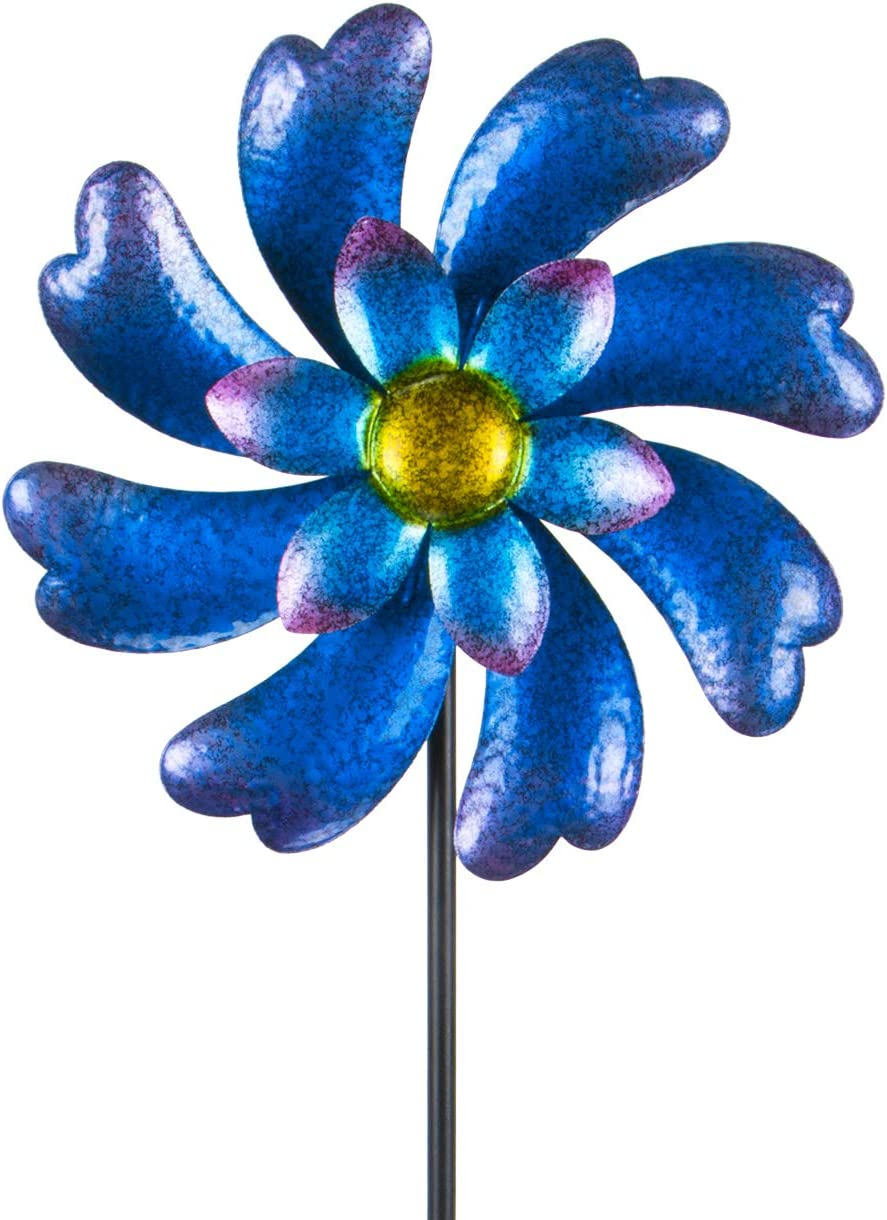 "MUMTOP Wind Spinner 45"" Wind Sculptures for Patio Lawn and Garden Let You Feel Different Visual Effects and Relax Your Mood (Blue)"