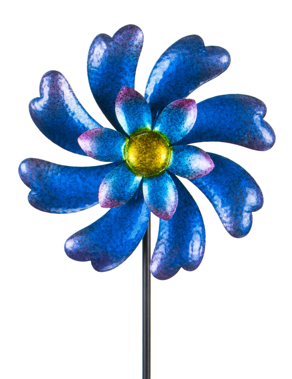 MUMTOP Wind Spinner 45'' Wind Sculptures for Patio Lawn and Garden Let You Feel Different Visual Effects and Relax Your Mood (Blue) by MUMTOP