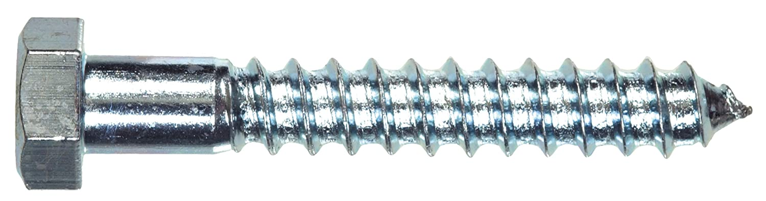 3//4-Inch X 2-1//2-Inch The Hillman Group 230191 Hex Lag Screw Zinc 20-Pack