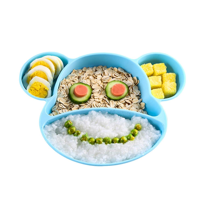 FUTURE FOUNDER Baby Teller Silikon Tischset f/ür Baby Kleinkinder Kinder Tragbar BPA-freie Baby Rutschfest Babyteller mit Saugnapf Silikondeckel Kinder Tischset Abwaschbar f/ür Sp/ülmaschine Mikrowell