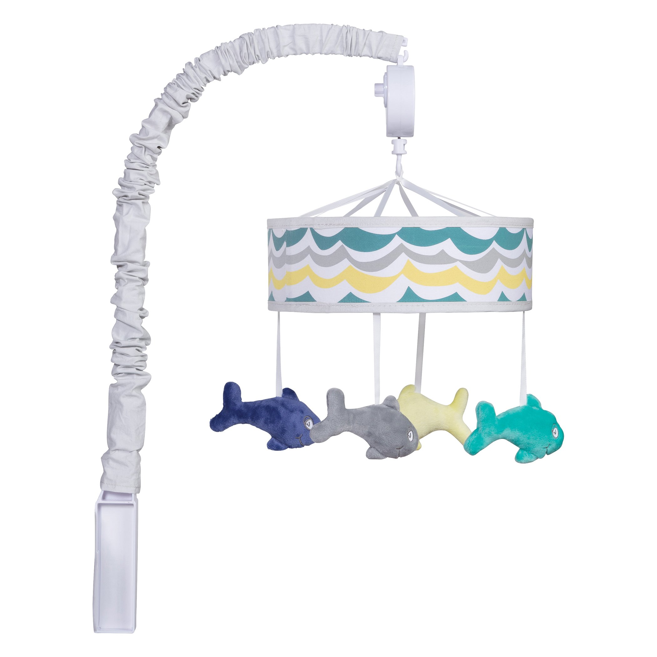 Trend Lab Dr. Seuss One Fish, Two Fish Musical Crib Mobile, Baby Mobile, Nursery