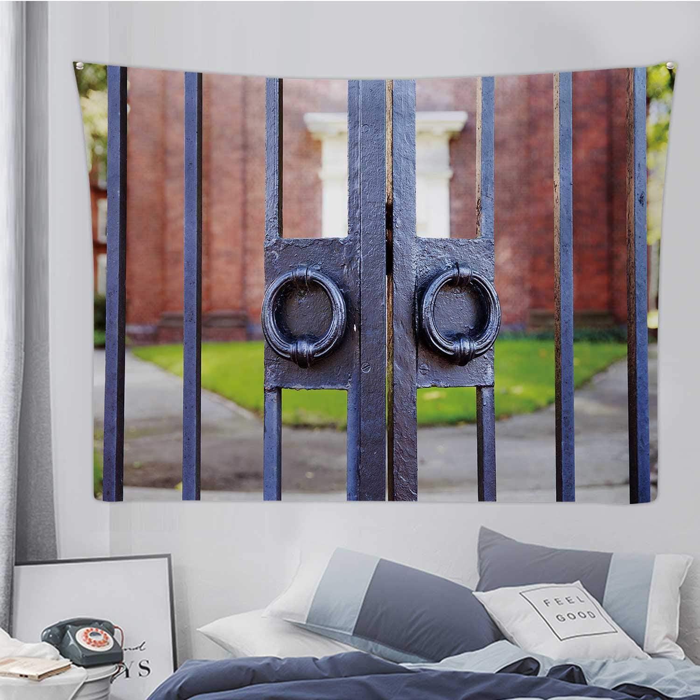 Hitecera Iron Gates Closeup.Harvard University'S Gate in Cambridge,Tapestry Wall Hanging Massachusetts Wall Art for Living Room Dorm Decor 78.7X59.1in
