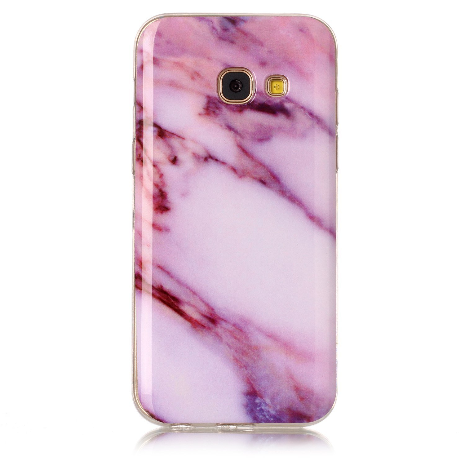 For Samsung Galaxy A5 2017 A520 Marble Case Blue and Gray,OYIME Unique Luxury Glitter Colorful Plating Pattern Skin Design Clear Silicone Rubber Slim Fit Ultra Thin Protective Back Cover Glossy Soft Gel TPU Shell Shockproof Drop Protection Protective Trans